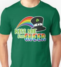 Kiss Me I'm Queer St Patrick's LGBT Pride T-Shirt