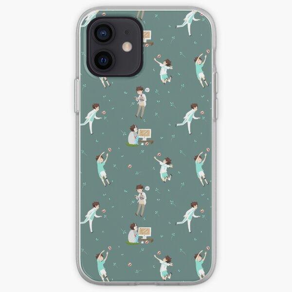 Oikawa Tooru Pattern - green iPhone Soft Case