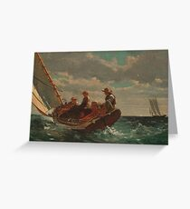 Winslow Homer - Breezing Up A Fair Wind  Greeting Card