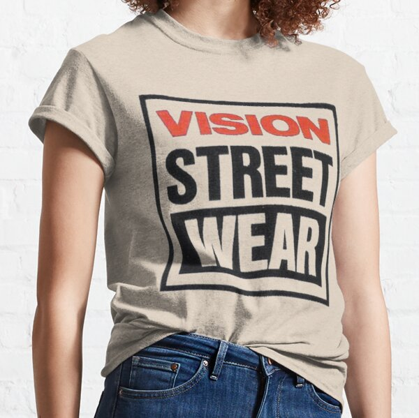 Vision street wear, retro skateboard t shirt design. Classic T-Shirt