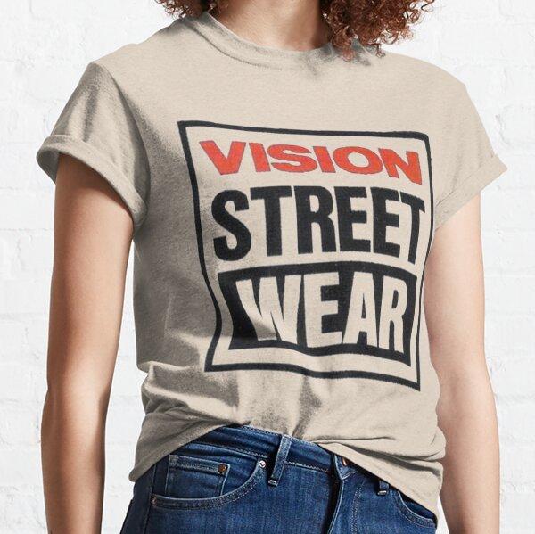 Vision street wear, diseño de camiseta de skate retro. Camiseta clásica