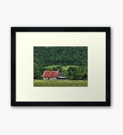 """""""A Farmer's Version of the Red Roof Inn""""... prints and products Framed Print"""