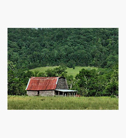 """""""A Farmer's Version of the Red Roof Inn""""... prints and products Photographic Print"""