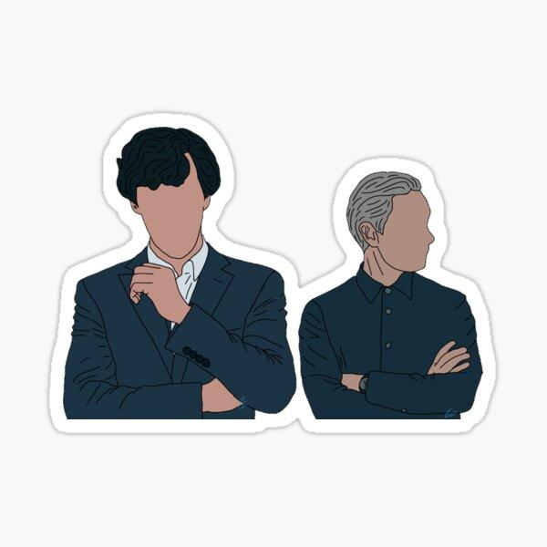 Sherlock and John Duo Sticker