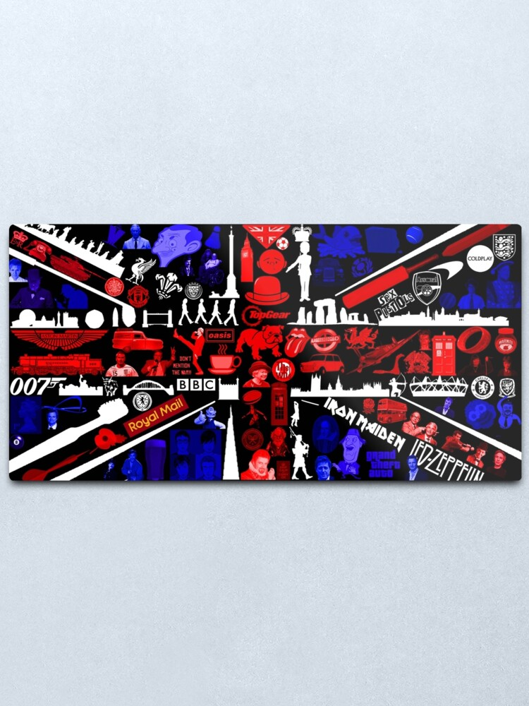 Alternate view of Union Flag Culture Collage  Metal Print
