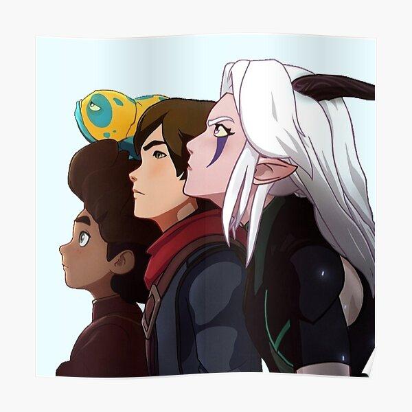 The Dragon Prince - Rayla, Callum and Ezran  Poster