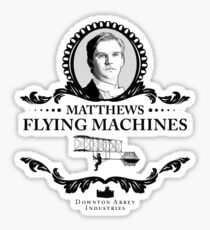Matthew Crawley - Downton Abbey Industries  Sticker