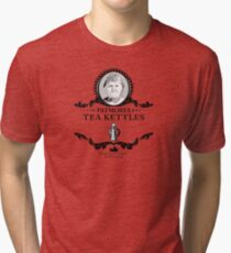 Patmores Tea Kettles - Downton Abbey Industries Tri-blend T-Shirt