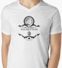 Patmores Tea Kettles - Downton Abbey Industries Men's V-Neck T-Shirt