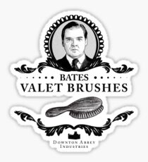 Bates Valet Brushes - Downton Abbey Industries Sticker