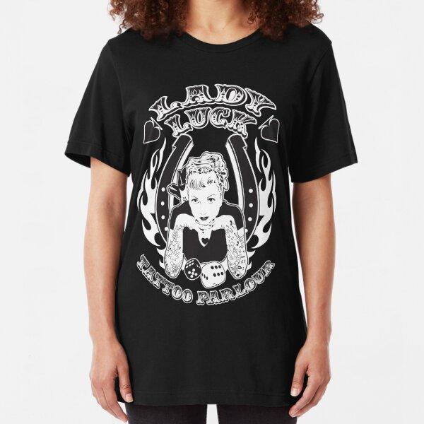 Lady Luck Tattoo Parlour Slim Fit T-Shirt