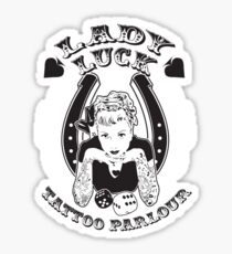 Lady Luck Tattoo Parlour Sticker