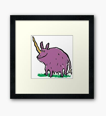 the truth about unicorns Framed Print