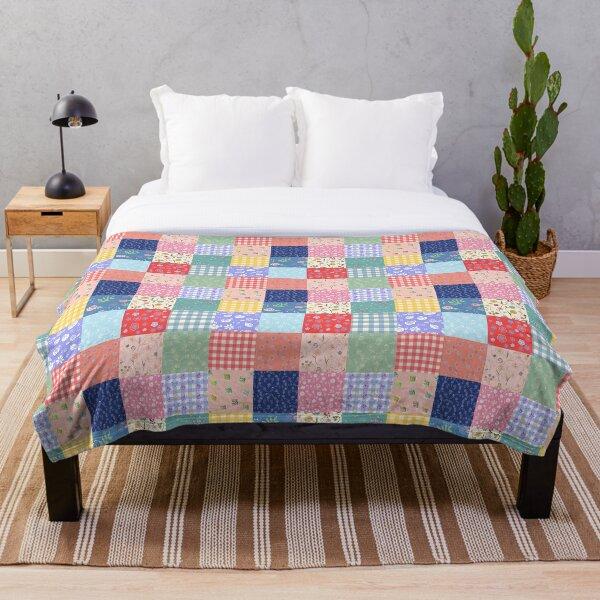 Happy summer patchwork Throw Blanket