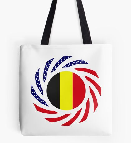 Belgian American Multinational Patriot Flag Series Tote Bag