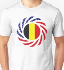 Belgian American Multinational Patriot Flag Series Slim Fit T-Shirt