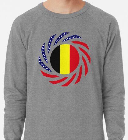 Belgian American Multinational Patriot Flag Series Lightweight Sweatshirt