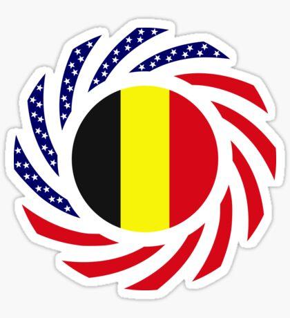 Belgian American Multinational Patriot Flag Series Sticker