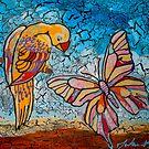Parrot Meets Butterfly by Juhan Rodrik