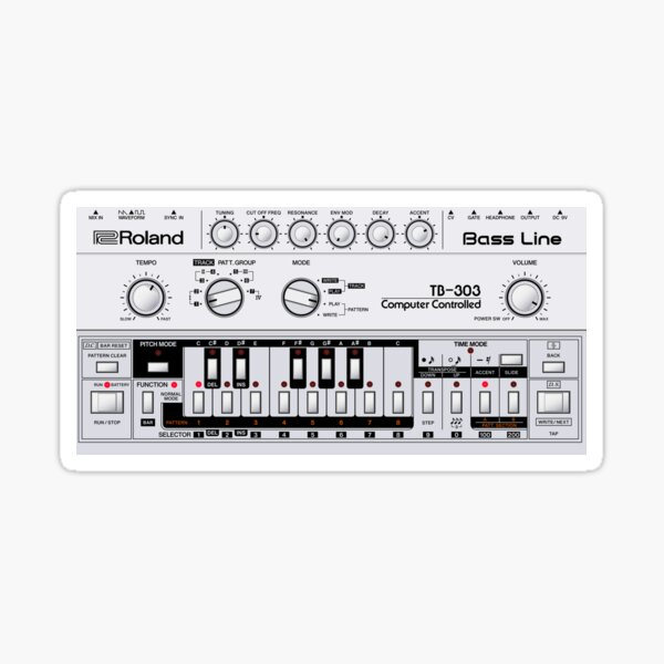 Roland TB-303 Bass Line Sticker