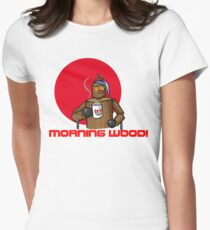Good Morning Wood!!! Women's Fitted T-Shirt