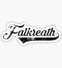 Skyrim Falkreath Distressed Sports Lettering Sticker