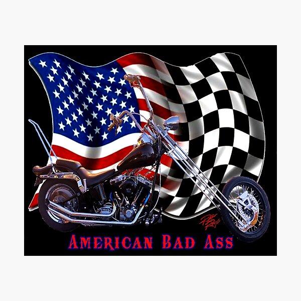 American Bad Ass Chopper Photographic Print