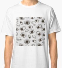 Funny eyes black and white pattern Classic T-Shirt