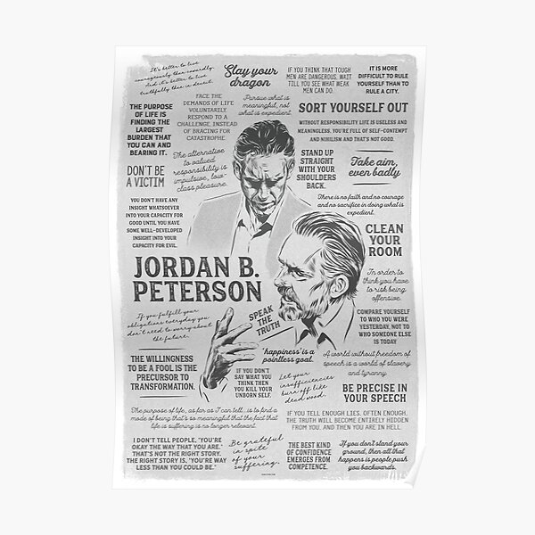 Jordan Peterson - Many Quotes Poster