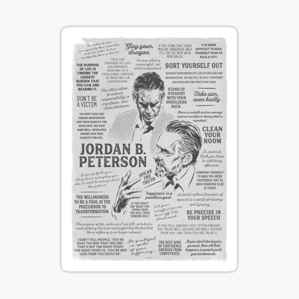 Jordan Peterson - Many Quotes Sticker