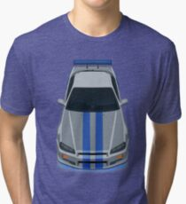 The Gray and Blue Tri-blend T-Shirt