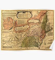 American Revolutionary War Era Maps 1750-1786 042 A general map of the middle British colonies in America 12 Poster