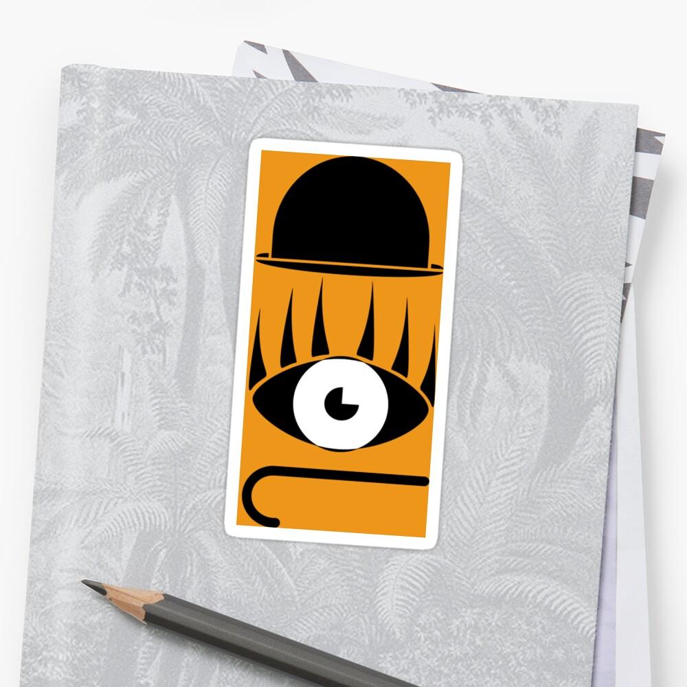 Clockwork Orange Symbols Stickers By Enjoyriot Redbubble
