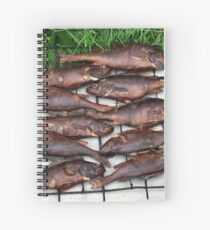 hot smoked fish Spiral Notebook