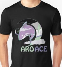 AroAce Pride Sky Shark Unisex T-Shirt