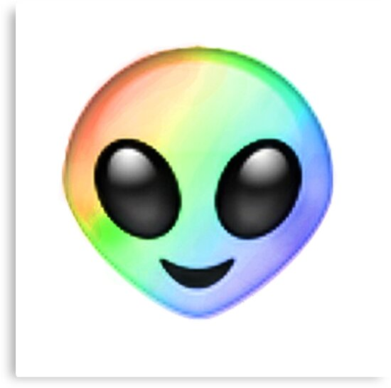 'Rainbow Alien Emoji' Canvas Print by LadyBoner69