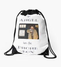 Castiel Has The Phonebox Drawstring Bag