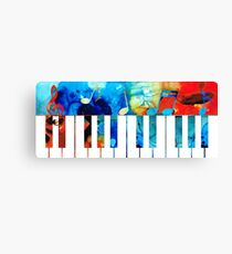 Colorful Piano Art by Sharon Cummings Canvas Print