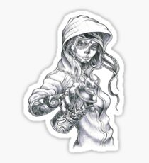 Mardi Gras Graffiti Girl Sticker