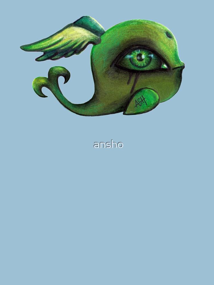green winged whale II von ansho