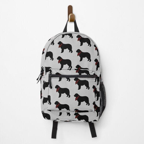 Newfoundland Dog with Plaid Bandana Backpack