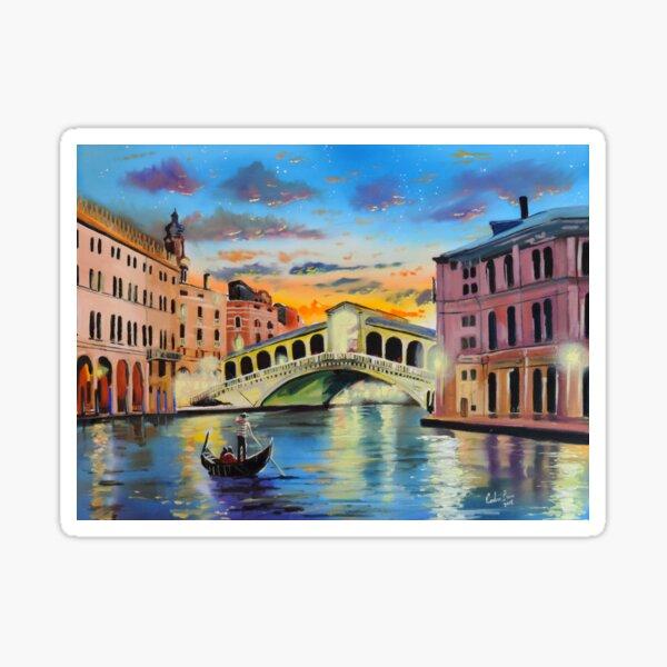The Venice reflections by Gordon Bruce Sticker