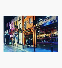 Strolling through Temple Bar Photographic Print