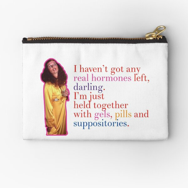 Funny Absolutely Fabulous Ab Fab Quote Zipper Pouch