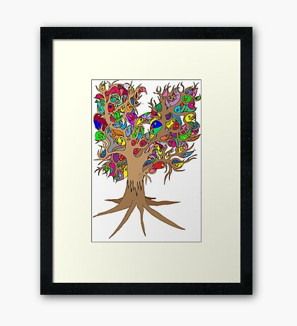 Birds of a feather stick together Framed Print