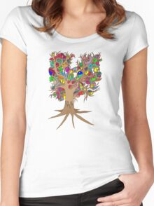 Birds of a feather stick together Women's Fitted Scoop T-Shirt
