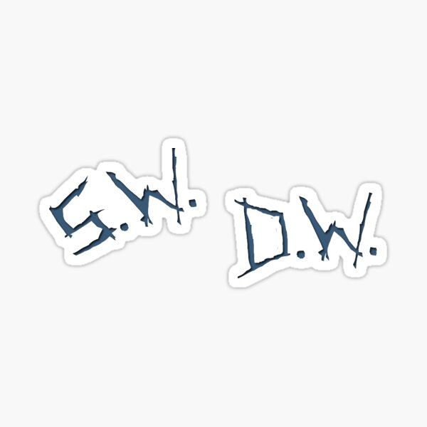 s.w. and d.w. Sticker
