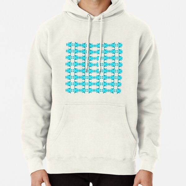 Blue pyramidal ornament Pullover Hoodie