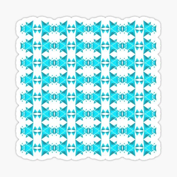 Blue pyramidal ornament Sticker