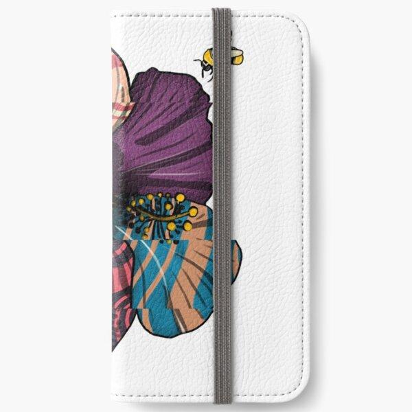 Distorted Hibiscus iPhone Wallet